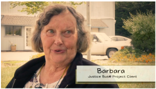 Barbara, Justice Bus Client
