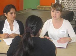 OneJustice Volunteers Interview a Client