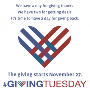 November 27, #GivingTuesday