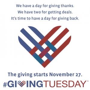 November 27, #GivingTuesday