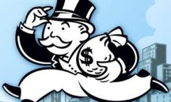 Monopoly Man with money