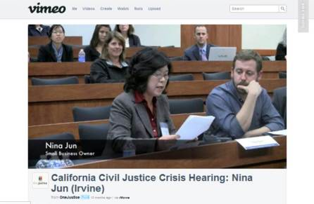 Small Business Owner Nina Jun testifies.
