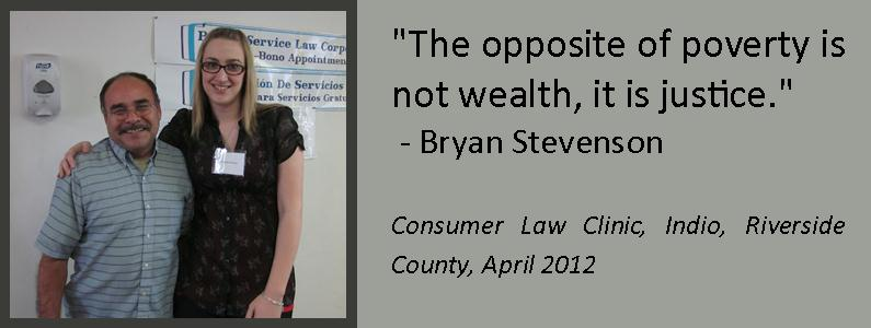 The opposite of poverty is not wealth, it is justice.