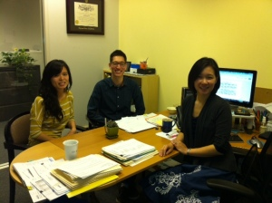Strengthen the Network team (R to L): Linda Kim, Deputy Director; Stephen Downey, Program Associate, and Thieu Do, Program Coordinator