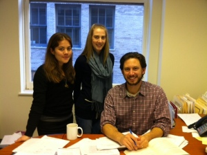 Pro Bono Team (R to L): Michael Winn, Senior Staff Attorney; Phoebe Kasdin, Program Associate; and Lauren Roberts, Equal Justice Works AmeriCorps Legal Fellow