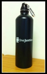 You can win this nifty OneJustice water bottle!