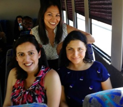 Rosa and OneJustice staff on the Justice Bus