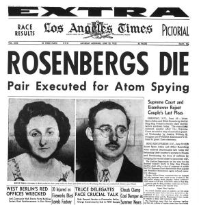 Rosenbergs are executed (newspaper article)