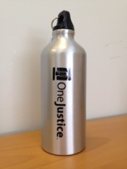 Win this awesome OneJustice water bottle!
