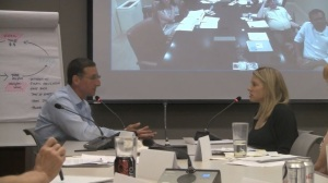 The OneJustice Board doing training by videoconference