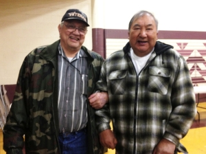 Two veterans at the Del Norte County  Justice Bus clinic.
