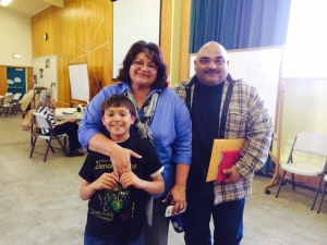 This family was all smiles after receiving help at the Justice Bus special education clinic today in Humboldt County.