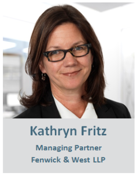 Headshot of Kathryn Fritz, Managing Partner of Fenwick & West LLP