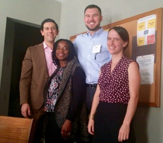 [Photo: Megan Kent, Equal Justice Works AmeriCorps Legal Fellow, at an IMPACT LA with volunteer attorneys.]