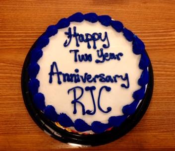 Birthday cake with Happy 2 Year Anniversary RJC