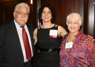 Julia Wilson with Randy and Anne Silver at the Opening Doors to Justice event, standing together.