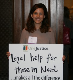 Photo: Betsy White, ‎Legal Counsel, Apple & OneJustice Advisory Board member at the 2015 Opening Doors to Justice event.