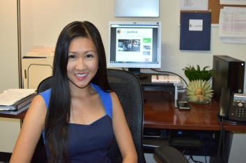 Photo: Marian Lee is the Equal Justice Works AmeriCorps Legal Fellow for the Justice Bus Project at OneJustice's Los Angeles office.