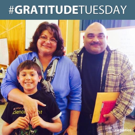 OneJustice GratitudeTuesday