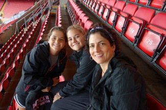 Photo: In the stands at Anfield (home of Liverpool Football Club)