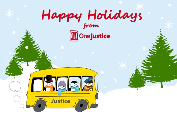 Image: Happy Holidays from OneJustice