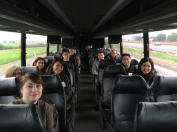 Photo: Morrison & Foerster LLP and Yahoo Inc. volunteer attorneys aboard the Justice Bus to Modesto, California.