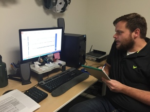 Image: Patrick Fodell, Training Institute Coordinator, working on a webinar for the Pro Bono Training Institute.