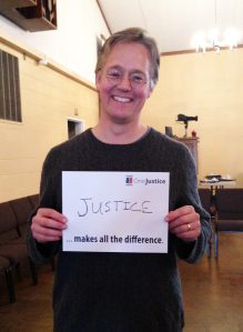 IMAGE: OneJustice Board member and Justice Bus Volunteer at a clinic in Napa County.