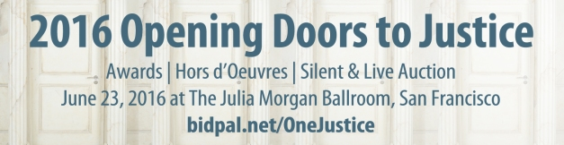 IMAGE: 2016 Opening Doors to Justice event on June 23, 2016 at The Julia Morgan Ballroom in downtown San Francisco.