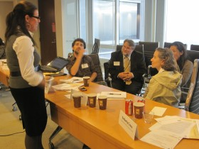 IMAGE: Chris with fellow Executive Fellows at one of their sessions in 2012.