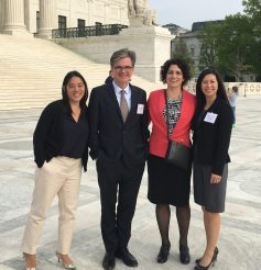 IMAGE: M. Nalani Fujimori Kaina, Mark O'Brien, Phong Wong, and Julia R. Wilson after the White House Forum on April 19, 2016.