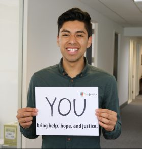 IMAGE: Miguel Castillo, DreamSF Fellow and Communications Intern at OneJustice.