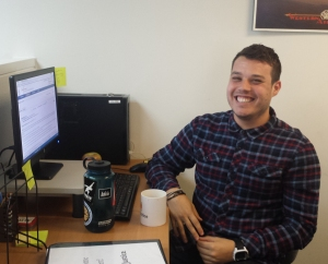 IMAGE: Summer Law Clerk Grant Lehner will be assisting with the Justice Bus Project.